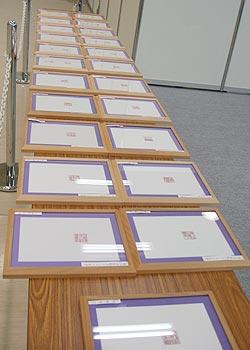 内閣総理大臣賞受賞!一級彫刻士大槻秀山先生の完全手彫りグランプリ作品が展示されています